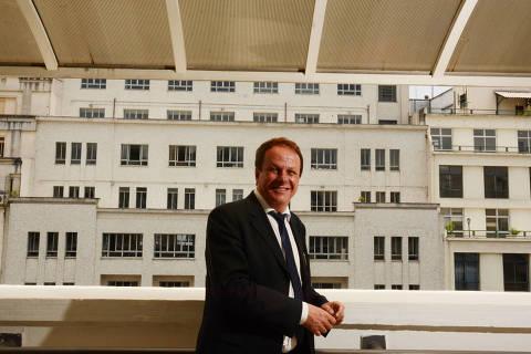SÃO PAULO, SP, BRASIL,  08.11.2017 - Sandro Roberto Valentini, 53, reitor da Unesp (Universidade Estadual Paulista), durante entrevista à Folha, em São Paulo (SP)  (Foto: Karime Xavier/Folhapress)