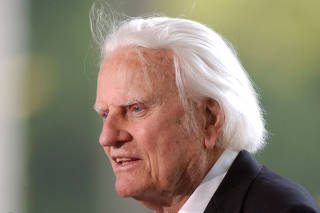 FILE PHOTO: Evangelist Graham speaks at the dedication of the Billy Graham Library in Charlotte