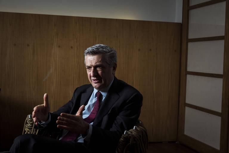 O alto comissário da ONU para refugiados, o italiano Filippo Grandi, em entrevista à Folha em São Paulo nesta quarta (21)