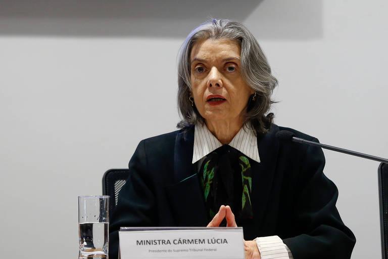 A ministra Cármen Lúcia, presidente do Supremo