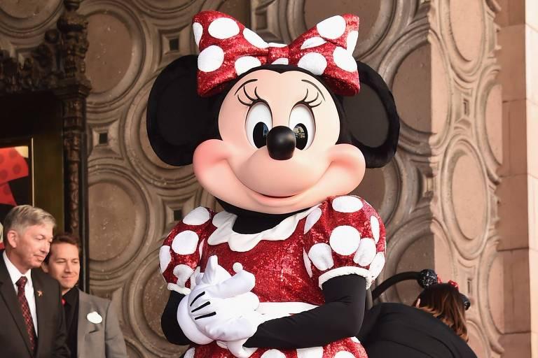 Minnie Mouse comemora seu 90º anniversário com uma estrela na Calçada da Fama, em Hollywood