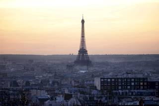 File photo of the Eiffel Tower at sunset in Paris
