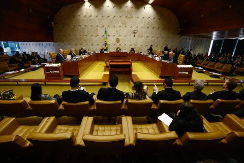 ***ARQUIVO*** BRASILIA, DF,  BRASIL,  04-05-2018, 12h00: Sessão plenária do STF, sob a presidência da ministra Carmen Lucia. (Foto: Pedro Ladeira/Folhapress, PODER)