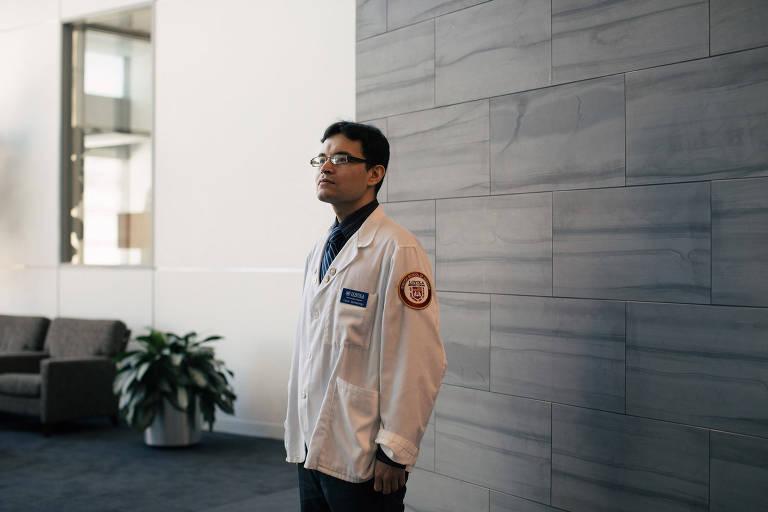 O aluno de medicina Cesar Montelongo, que era beneficiado pelo Daca
