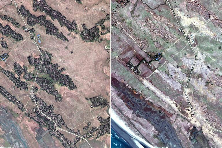 Imagens de satélite mostram que Mianmar demoliuvilasrohingyas