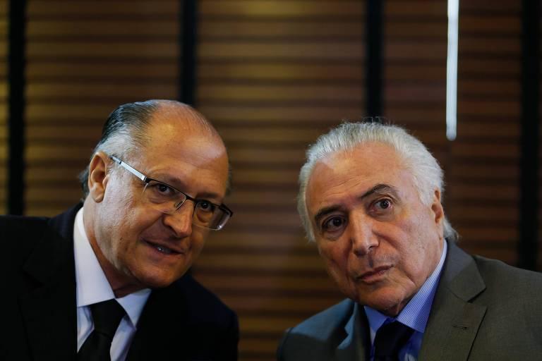 O governador de São Paulo, Geraldo Alckmin, e o presidente da República, Michel Temer, durante reunião em Campinas