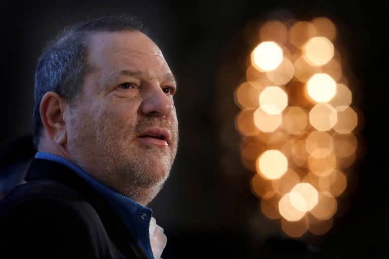Harvey Weinstein fala em convenção em Nova York