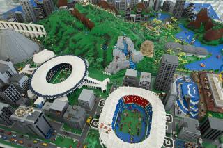 Maquete de LEGO da cidade do Rio