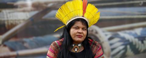 BRASILIA, DF,  BRASIL,  22-02-2018, 12h00: A líder indígena Sonia Guajajara, cotada a concorrer como vice-presidente na chapa do PSOL. (Foto: Pedro Ladeira/Folhapress, PODER) ***ESPECIAL*** ***EXCLUSIVO***