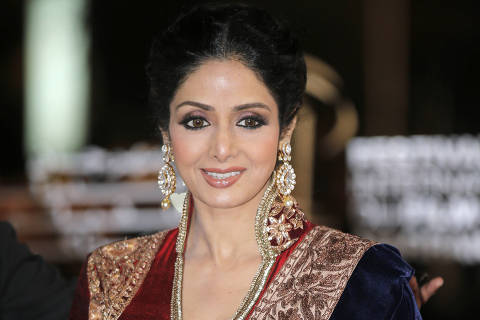 FILE - In this Dec. 1, 2012 file photo, Indian actress Sridevi arrives at the Marrakech International Film Festival in Marrakech, at the Marrakech Congress Palace. Sridevi, Bollywood?s leading lady of the 1980s and ?90s who redefined stardom for actresses in India, has died at age 54. The actress, known by one name, was described as the first female superstar in India?s male-dominated film industry. Her brother-in-law Sanjay Kapoor speaking to the Indian Express online confirmed she died Saturday, Feb. 24, 2018,  in Dubai due to cardiac arrest.(AP Photo/Lionel Cironneau, File) ORG XMIT: TKSK101