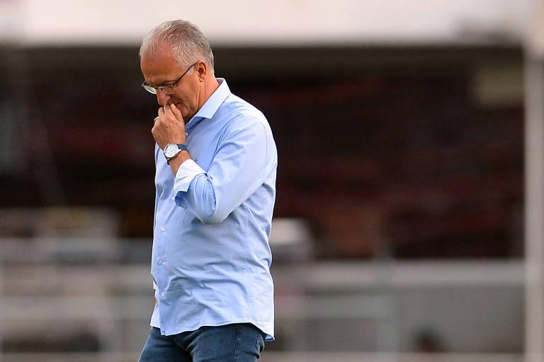 Dorival Junior, técnico do São Paulo, durante partida contra a Ferroviária, pelo campeonato Paulista