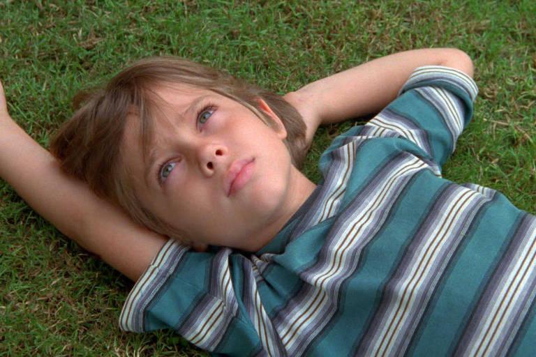 """Ellar Coltrane, aos seis anos, em cena do filme """"Boyhood"""". O longa foi indicao ao Oscar em 2015"""