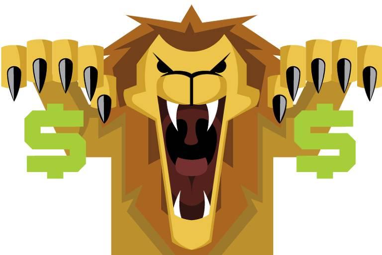 Desenho do leão do Imposto de Renda