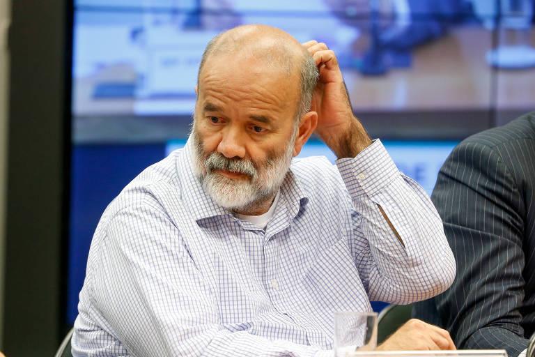 O ex-tesoureiro do PT João Vaccari Neto durante depoimento à CPI dos Fundos de Pensão em 2016
