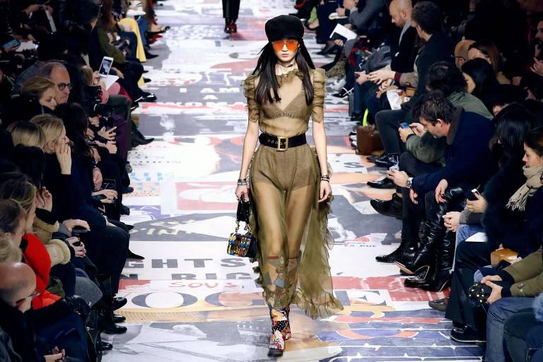 Desfiles Dior e Saint Laurent