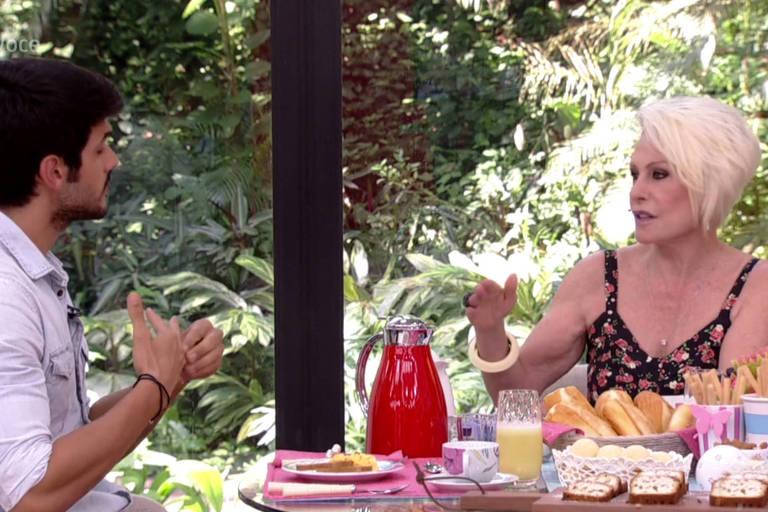 """Lucas participa do programa """"Mais Você"""" com Ana Maria Braga"""
