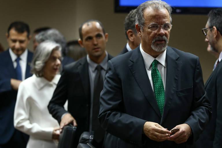 O Ministro da Segurança Pública, Raul Jungmann, participa de reunião no CNJ (Conselho Nacional de Justiça), em Brasília