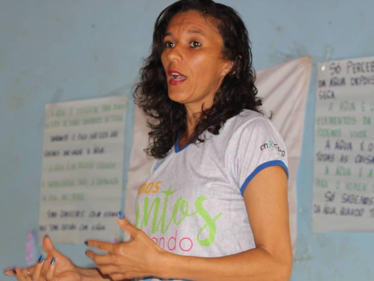 Edriana Aparecida Soares, 36, moradora do município de Chapada do Norte (MG), engajada no Movimento dos Atingidos por Barragem do rio Setúbal Childfund/Divulgação