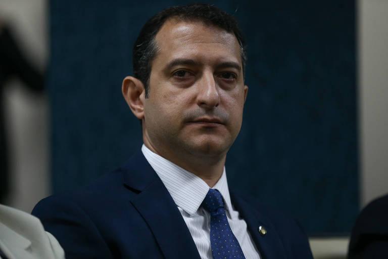 O novo diretor-geral da PF, Rogério Galloro, em sessão na sede do CNJ
