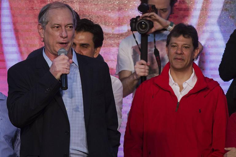 Ciro Gomes discursa no lançamento da candidatura à reeleição de Haddad como prefeito