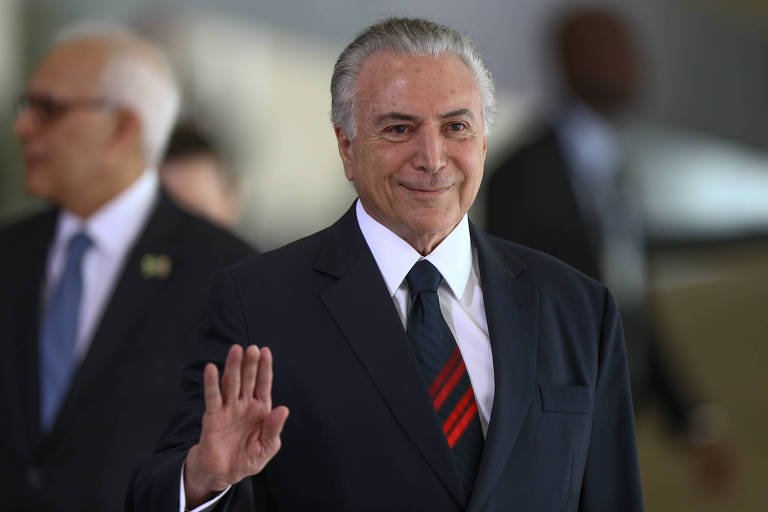 O presidente Michel Temer durante cerimônia no Palácio do Planalto