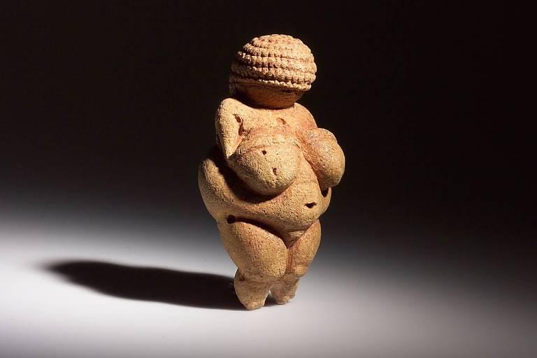 A Vênus de Willendorf no Museu de História Natural de Viena