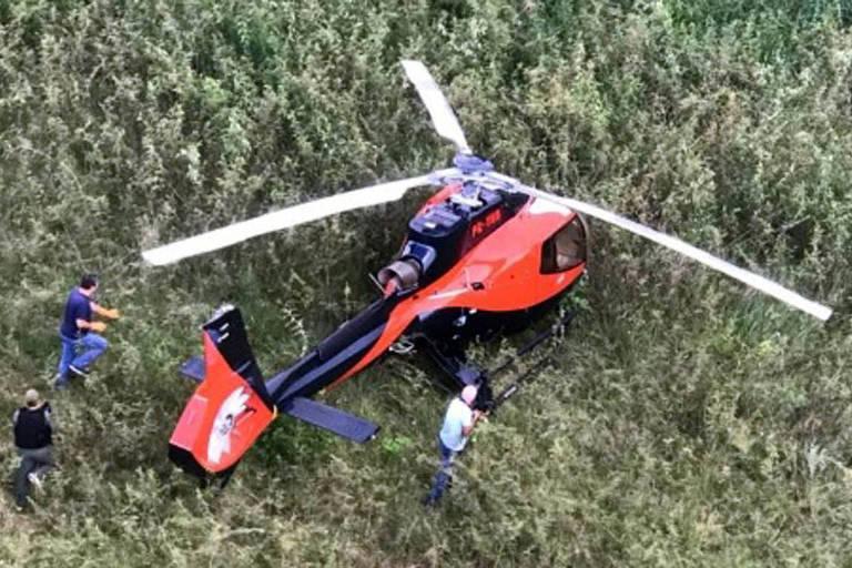 Helicóptero usado em ataque que matou líderes do PCC foi encontrado em Fernandópolis