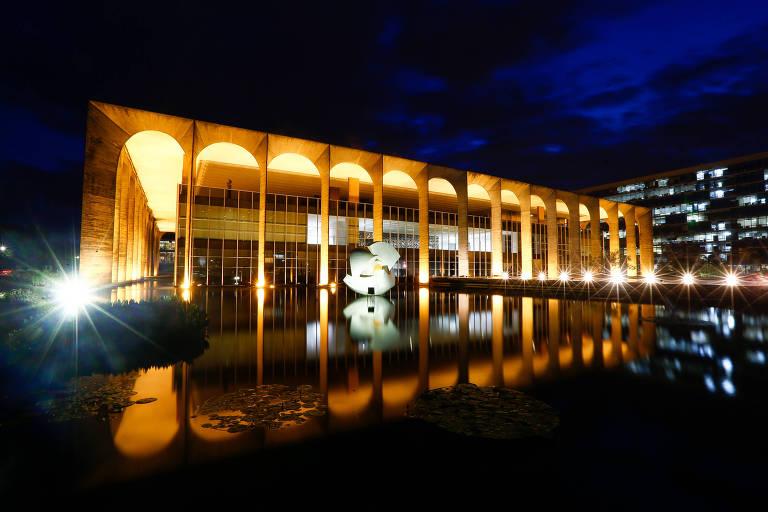 O Palácio do Itamaraty, sede do Ministério das Relações Exteriores, em Brasília