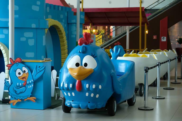 Parque da Galinha Pintadinha é atração do shopping Metrópole