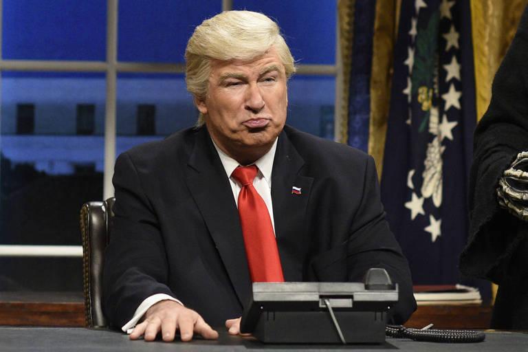 Alec Baldwin imitando Donald Trump no Saturday Night Live