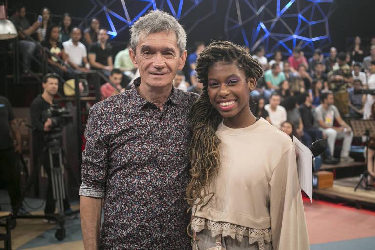 Serginho Groisman e MC Soffia no Altas Horas (Globo)