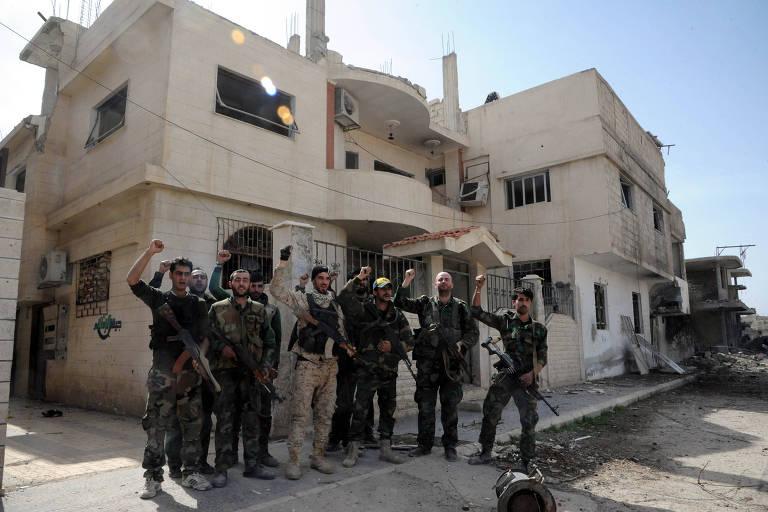 Resultado de imagem para soldados sirios em ghouta