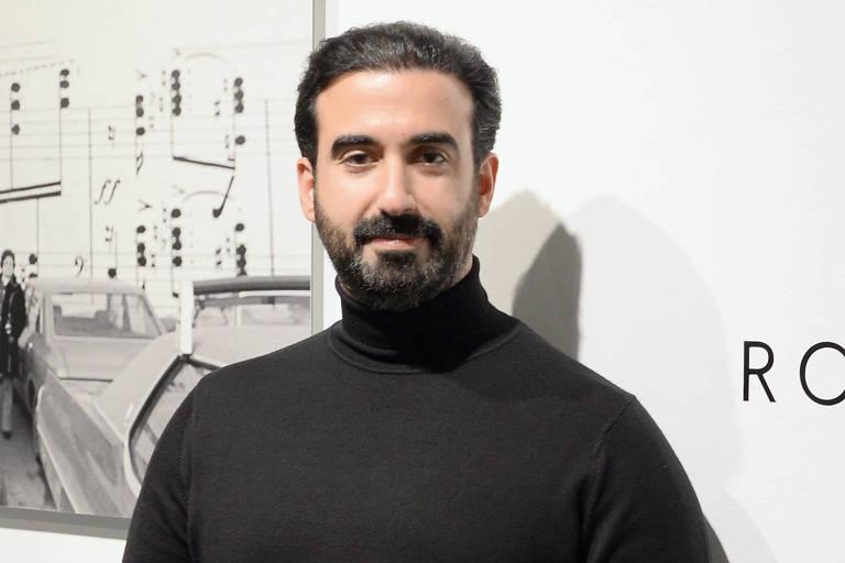 Retrato do libanês Ayman Hariri, cofundador da Vero, em fundo branco