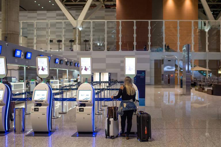 Área de check-in do aeroporto de Viracopos