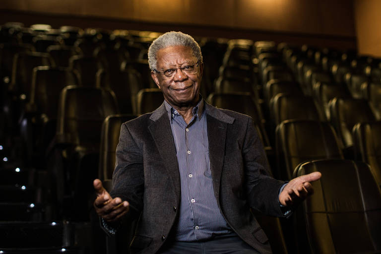 Milton Gonçalves na coletiva do lançamento do filme 'Pelé: O Nascimento de uma Lenda'