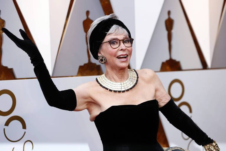 Rita Moreno no tapete vermelho do Oscar 2018