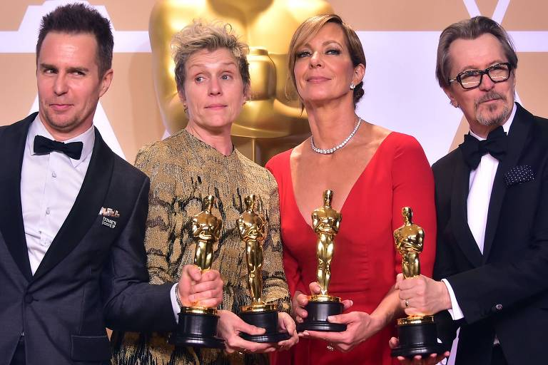 Vencedores do Oscar 2018: Sam Rockwell, Frances McDormand, Allison Janney e Gary Oldman
