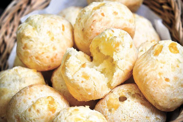 Pães de queijo, da empresa Forno de Minas