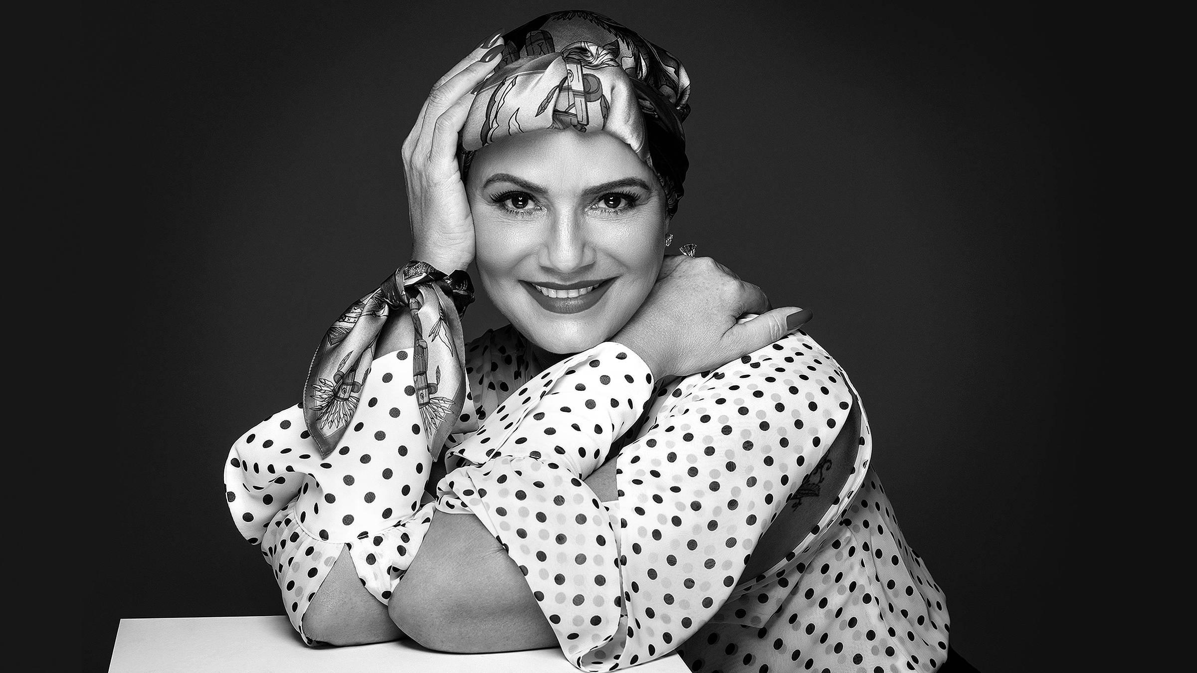 A atriz Luiza Brunet