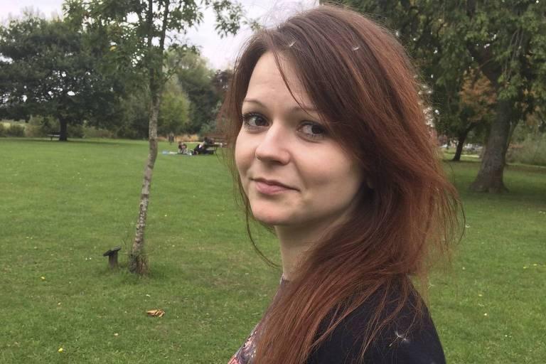 Iulia Skripal, que foi envenenada junto com o pai, Serguei, em foto sem data de rede social