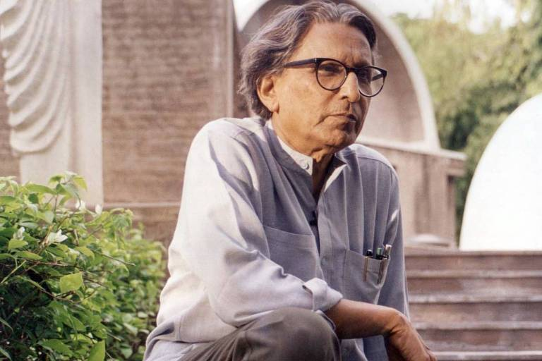 O arquiteto indiano Balkrishna Doshi
