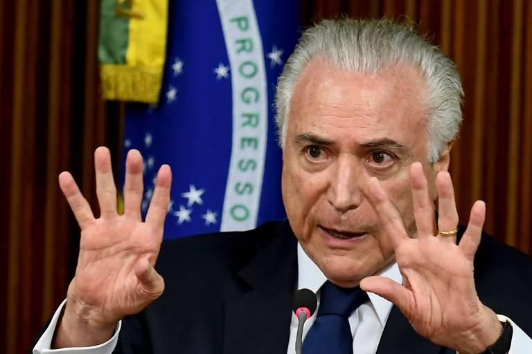 O presidente Michel Temer, em reunião no Planalto nesta quarta para discutir segurança pública