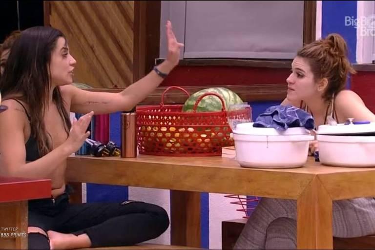 Ana Clara e Paula discutem no BBB 18