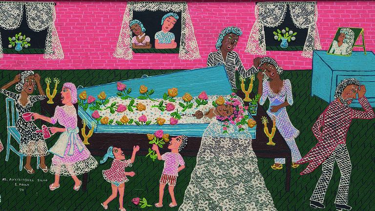 """""""Velório da noiva"""", de Maria Auxiliadora, em exposição no Masp"""