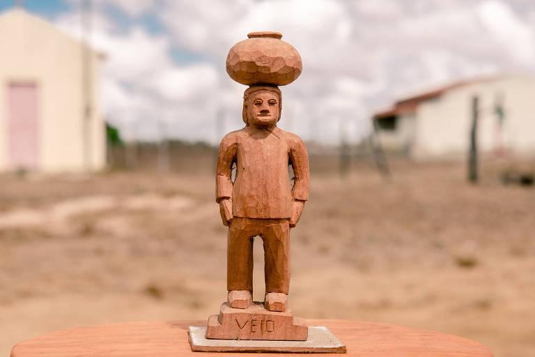 Escultura de Véio, que apresenta mostra no Itaú Cultural