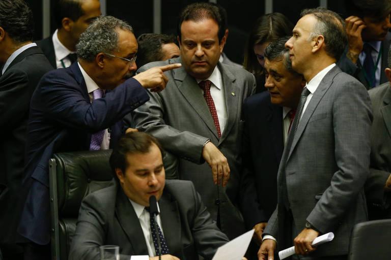 Plenário da Câmara dos Deputados durante votação do texto base da reforma política