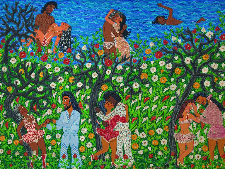 """""""Banhistas"""" (1973) de Maria Auxiliadora"""