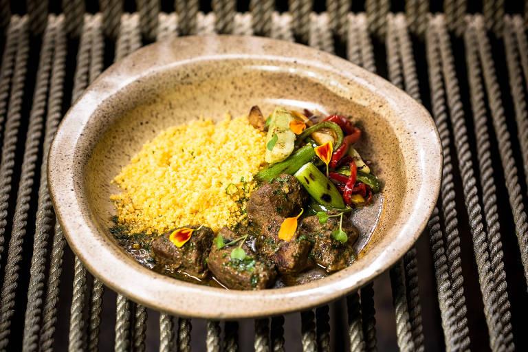 Prato do restaurante Fitó, especializado em culinária nordestina