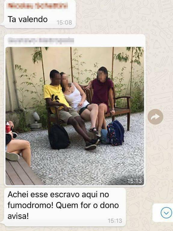 Mensagem racista enviada por aluno da FGV