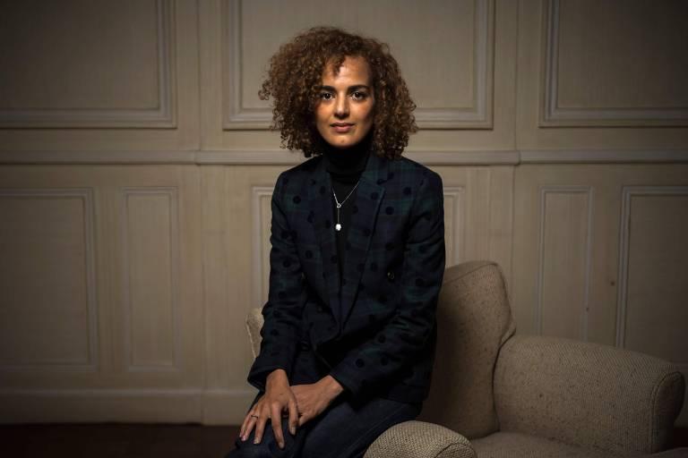 A escritora franco-marroquina Leïla Slimani, ganhadora do prêmio Goncourt em 2016